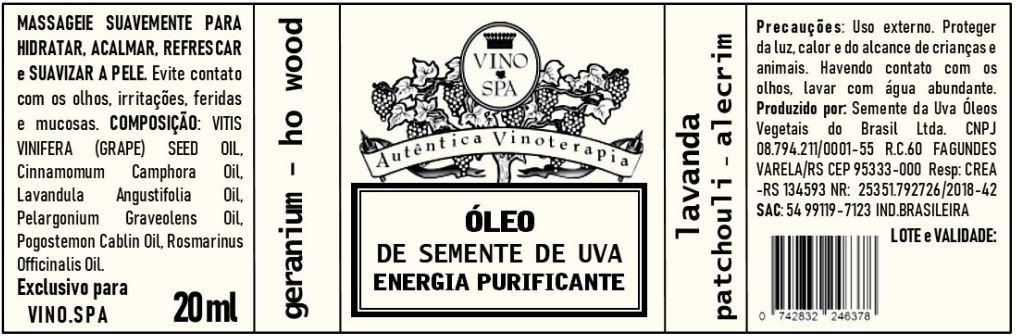 Rotulo – OLEO DE SEMENTE DE UVA ENERGIA PURIFICANTE