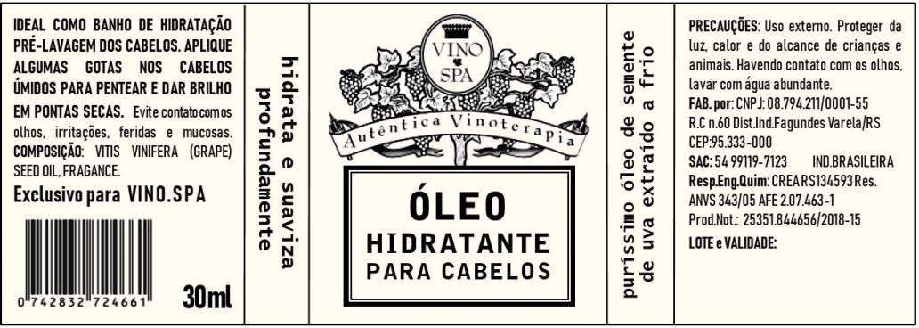Rotulo – OLEO HIDRATANTE PARA CABELOS